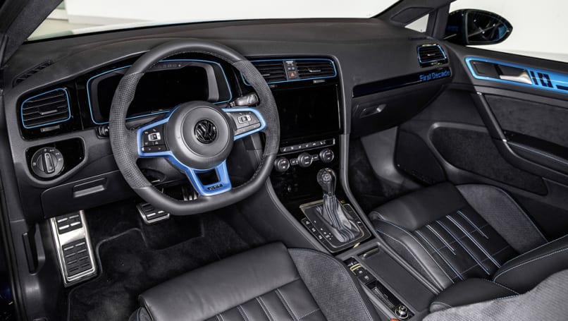 The sports seats are handmade by Volkswagen's subsidiary Sitech.