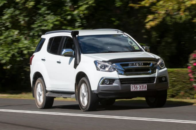 Isuzu mu x 2017 review carsguide open road driving is a treat in this thing because the new engines ample torque is available across a wider rev range sciox Image collections