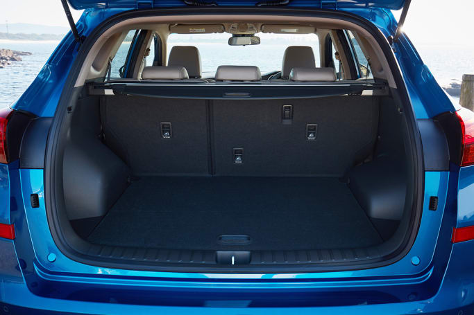 The boot storage space expands to 1478L with the seats folded down flat.