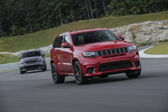 jeep grand cherokee trackhawk 2018 review carsguide. Black Bedroom Furniture Sets. Home Design Ideas