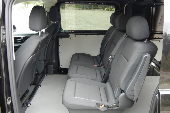 4eb7a9a625 Rear seat passengers get fold-down armrests on the two outer seating  positions. (