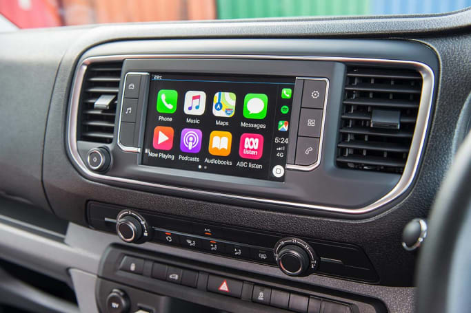 CarPlay and Android Auto are standard on the Expert.