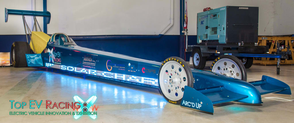 This electric dragster is aiming for 612km/h   CarsGuide - OverSteer