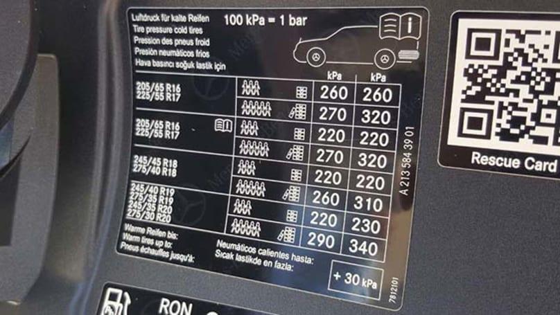 Mercedes Benz E Class Tyre Pressure Carsguide
