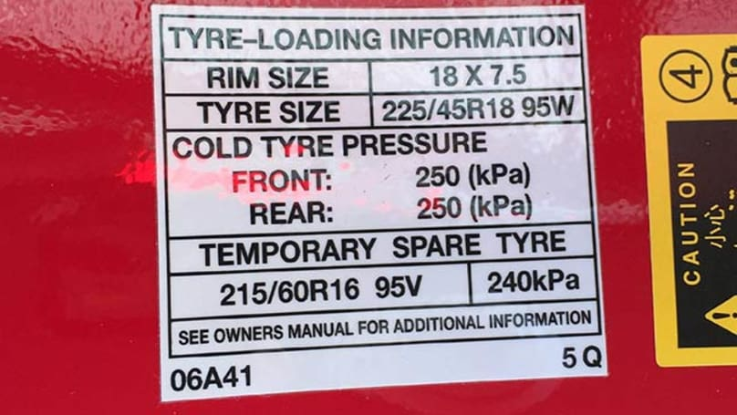 Toyota Aurion Tyre Pressure Carsguide
