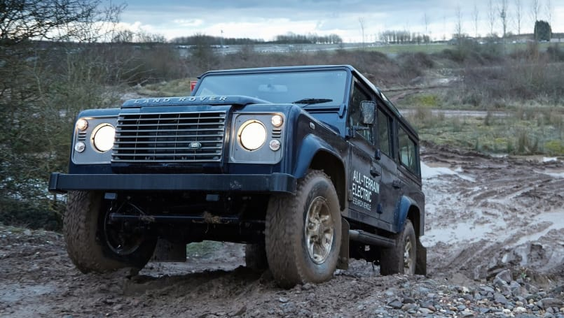 The all-electric Defender concept was designed to show that 'rugged' and 'EV' could be used in the same sentence.