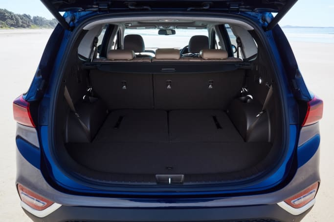 the santa fe offers 547 litres of space with the third row down