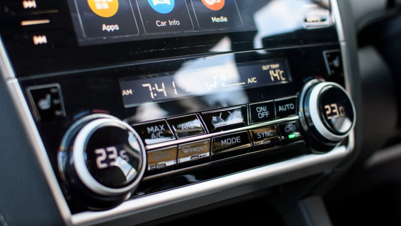 A functional design gives easy access to climate control in the Subaru Outback.