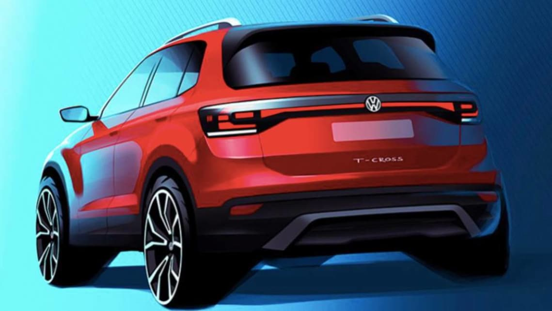volkswagen t cross 2019 first look at vw 39 s new baby suv car news carsguide. Black Bedroom Furniture Sets. Home Design Ideas