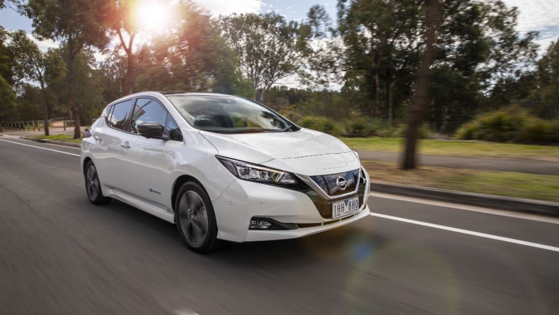 The updated Nissan Leaf will hit Australian showrooms around the middle of the year.