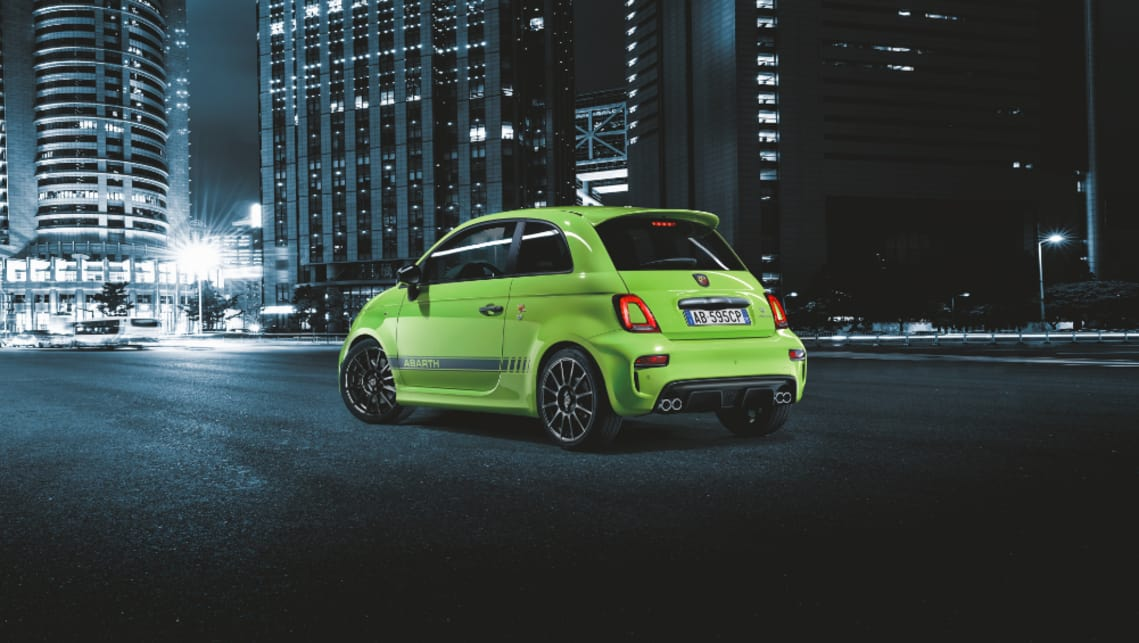 Abarth Competizione Green Pressimage on Fiat 500 Electric Car