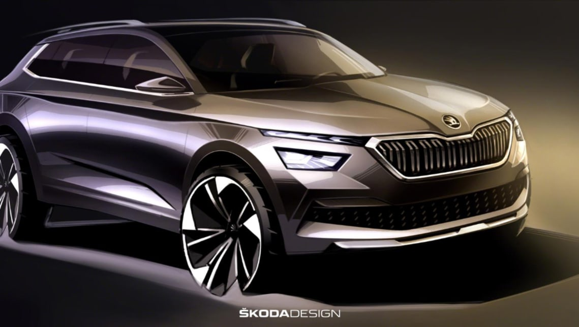 To date, we've only glimpsed the Kamiq's silhouette, but these new sketches give us our first proper look at the upcoming SUV.