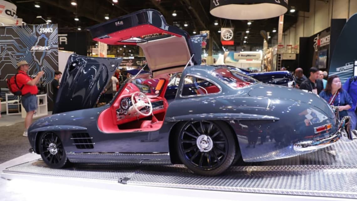"Americans hot rod the world's first supercar - the Mercedes 300SL ""Gullwing"" 