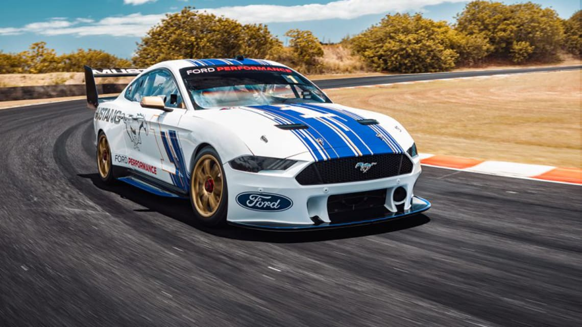 The Mustang hits the track for the first time without camo.