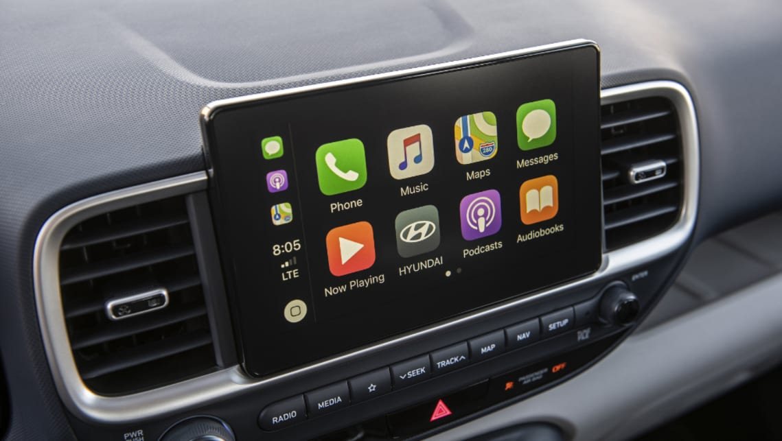 The 8.0-inch multimedia screen comes with Apple CarPlay and Android Auto.