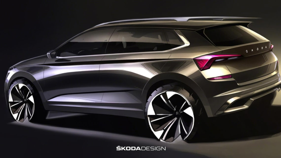 Skoda is remaining tight-lipped on the car, refusing to tell us whether it'll be built on VW's MQB A0 platform.