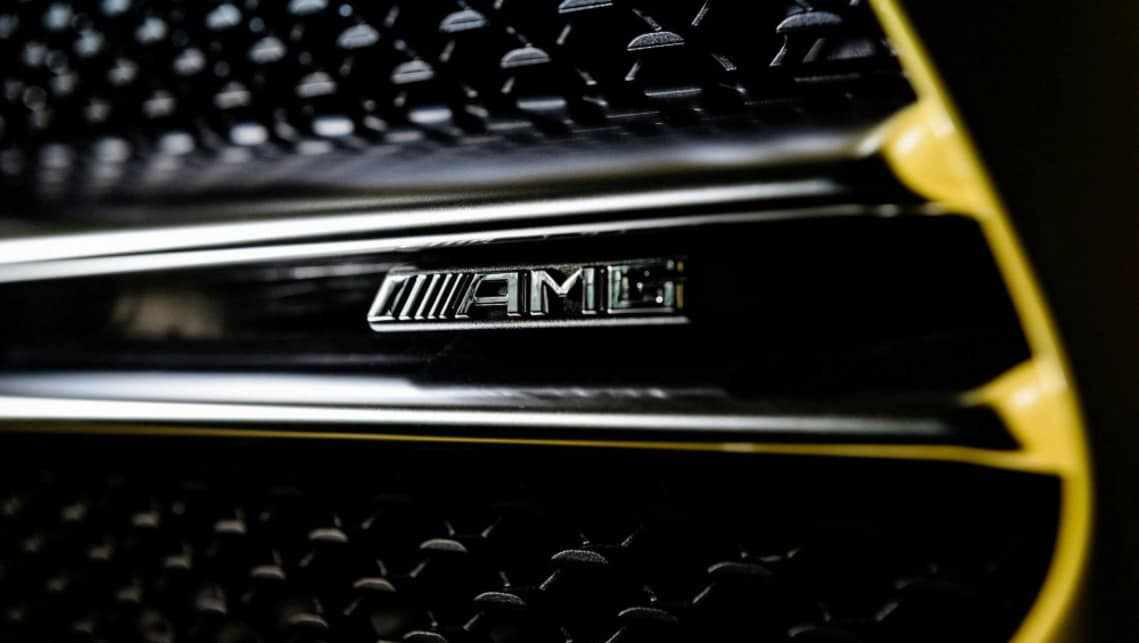 The AMG A 35 will be revealed in full at the Paris Motor Show.