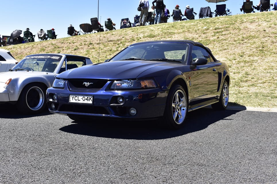 Imagine placing a 6.8-litre V10 in this Mustang like what Tickford did in 2001. (image credit: Mitchell Tulk)