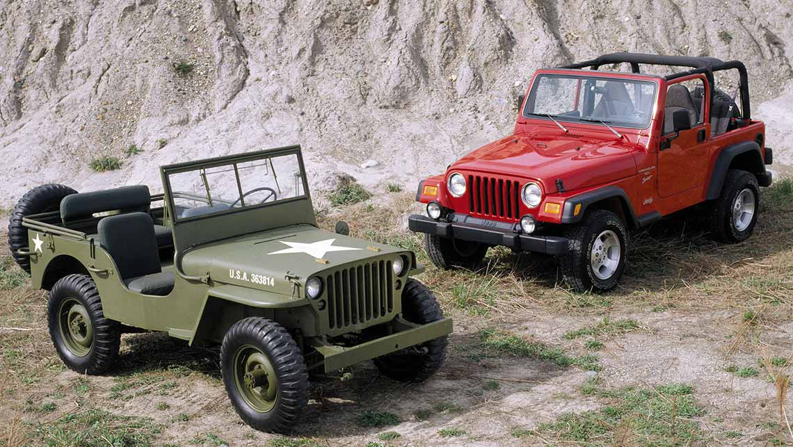2001 Jeep Wrangler with WW II Willys Jeep