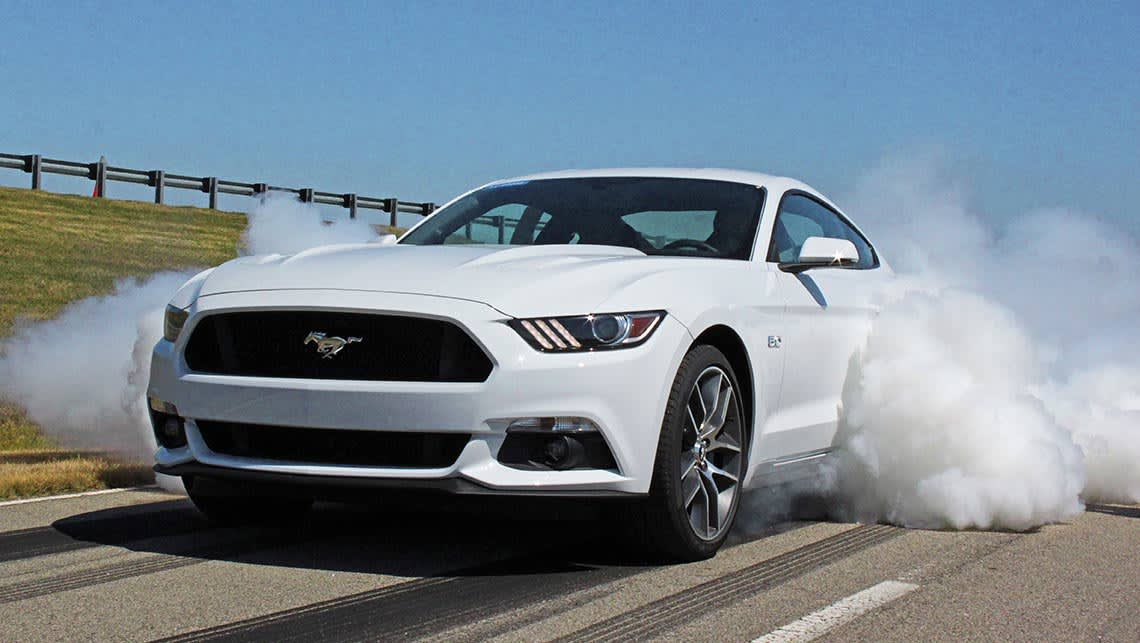 The 2015 Ford Mustang V8 will be able to do a burnout at the press of a button.