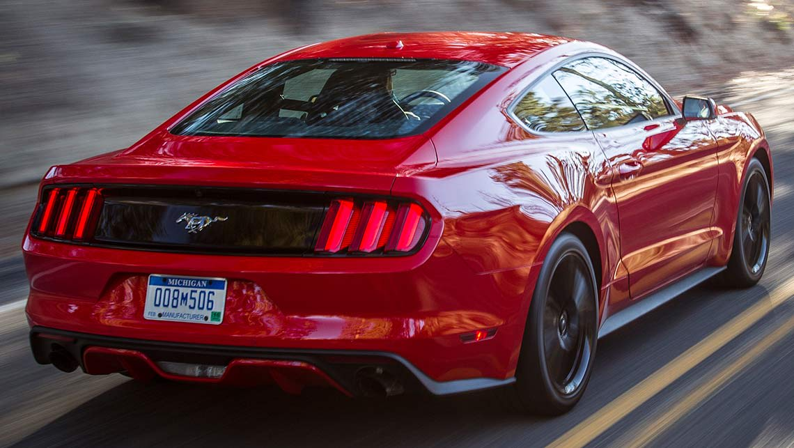 2015 Ford Mustang with the 2.3-litre EcoBoost turbocharged four-cylinder engine.