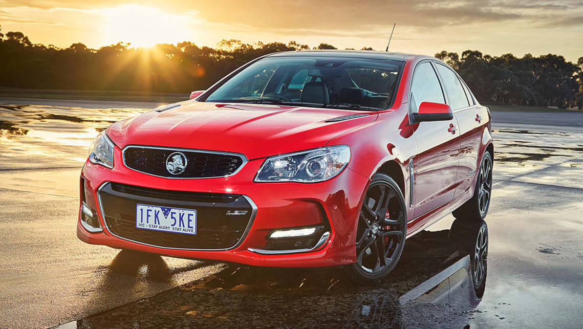 The Holden VF Commodore is one of the few cars in Australia that can fit three ISOFIX car seats across the back seat.