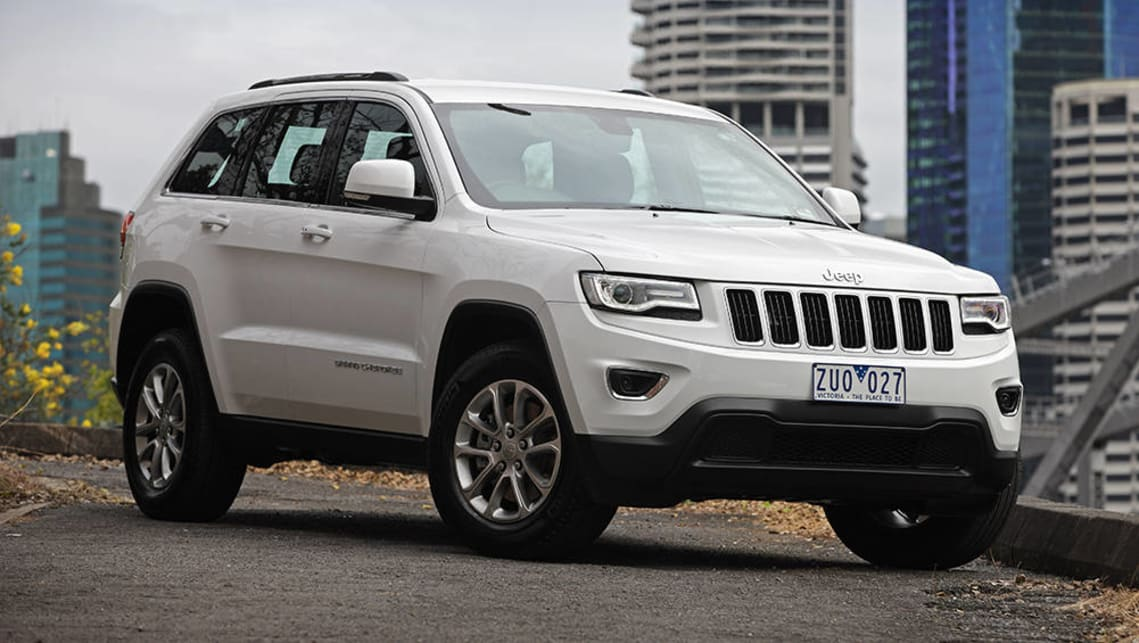 The current Jeep Grand Cherokee should be able to accommodate three child seats across the back seat.