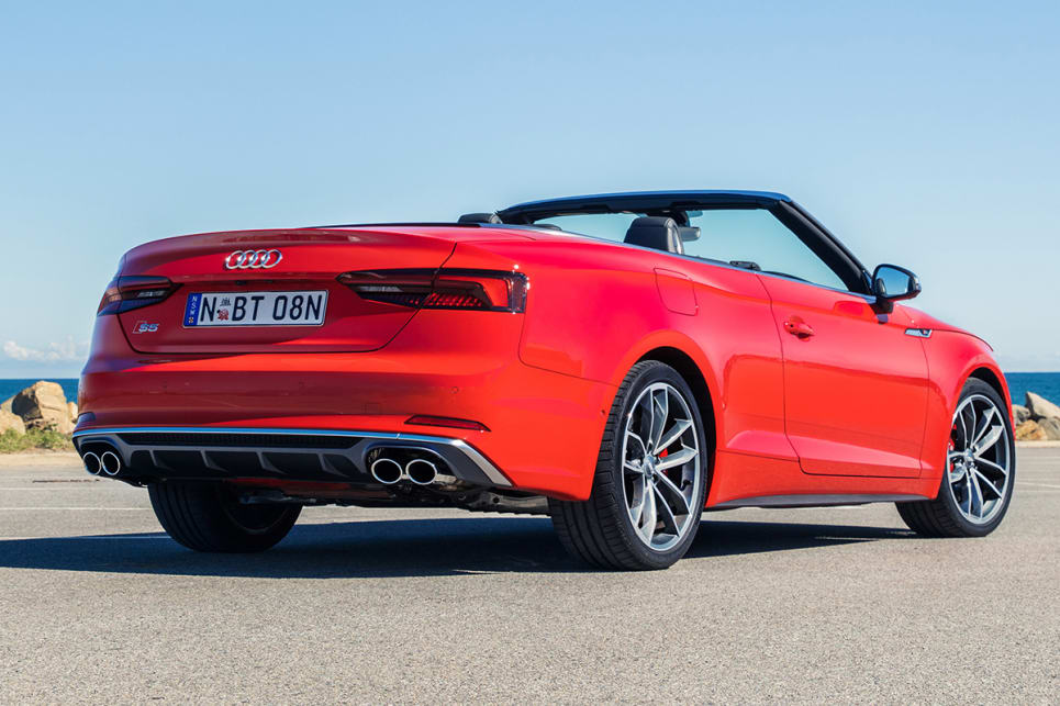 The S5 Cabriolet is handsome, but lacks the sleek sexiness of the Coupe.
