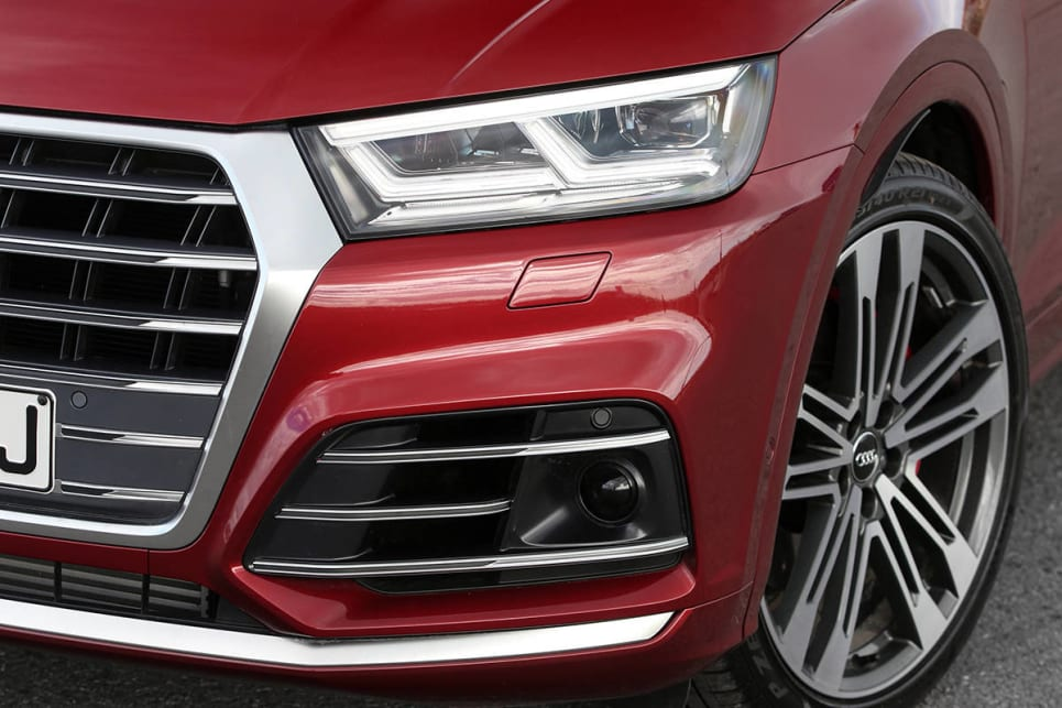 According to Audi, if you look (and imagine) hard enough you should be able to see the a letter Q in the redesigned headlights.