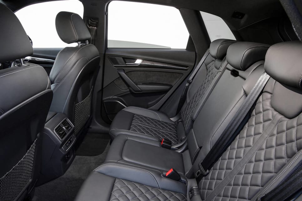 In the back row you'll find two cupholders in the fold-down centre armrest and two more up front.