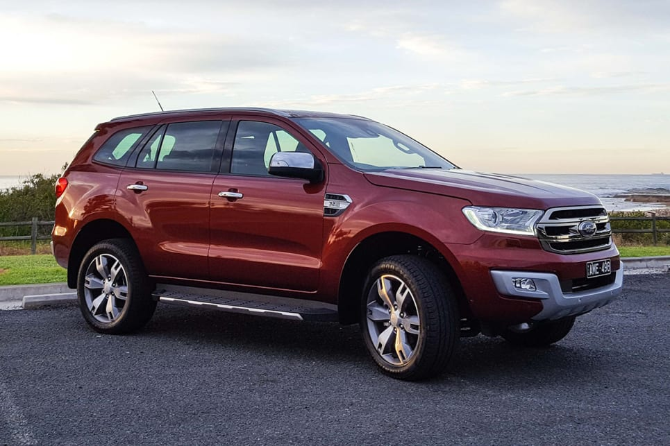 Ford's Everest wagon now come with a choice of five or seven seats, or two or four-wheel drive (Titanium variant shown). (image credit: Tim Robson)