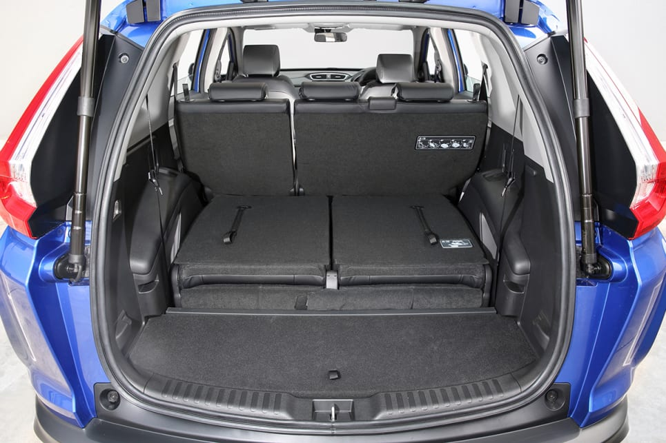The CR-V has 522 litres of cargo space with the rear seats in place.