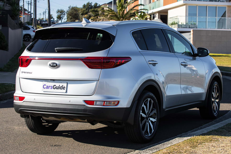 Some larger SUVs can feel quite heavy, but the Sportage is a great size and was quite easy to park. (image credit: Dean McCartney)