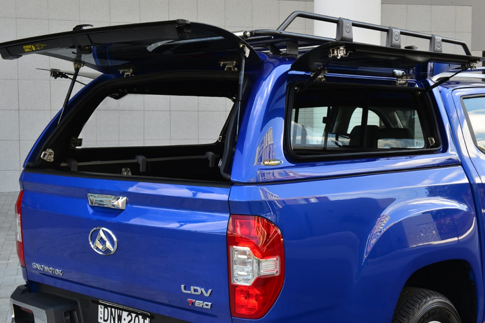 For those owners who don't opt for a canopy, hard lids or soft tonneau covers will be available.
