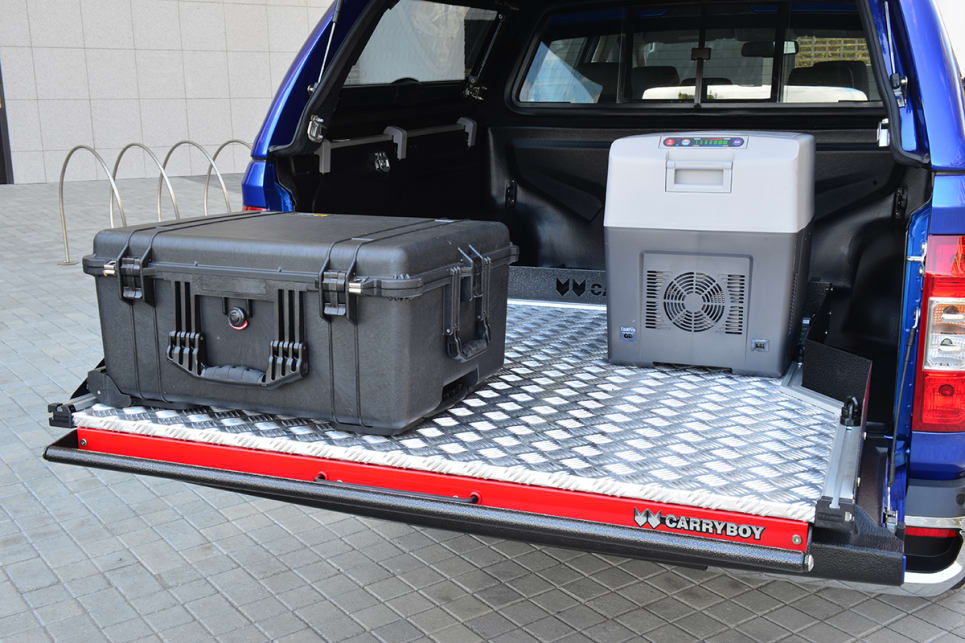 LED tub lights and 12-volt power sockets can be added to the ute tray.