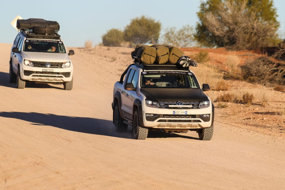 With a fully laden Amarok, our pace was steady and solid.