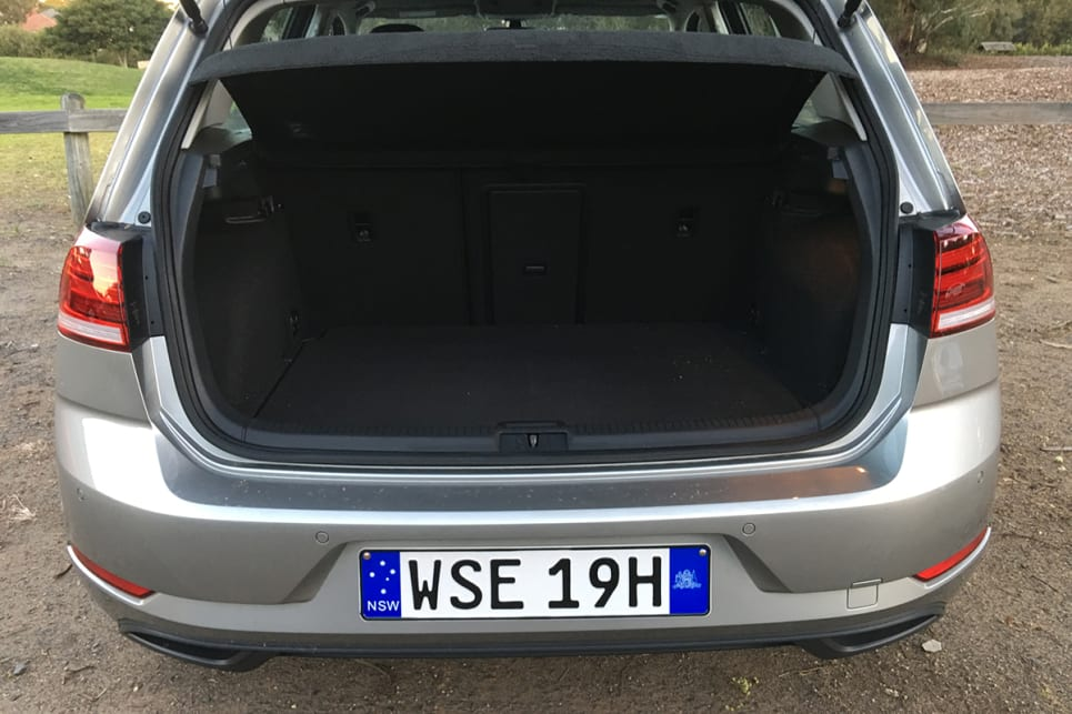It's a fairly small space with the seats up, but the 60/40 split rear seats do drop. (image credit: Andrew Chesterton)