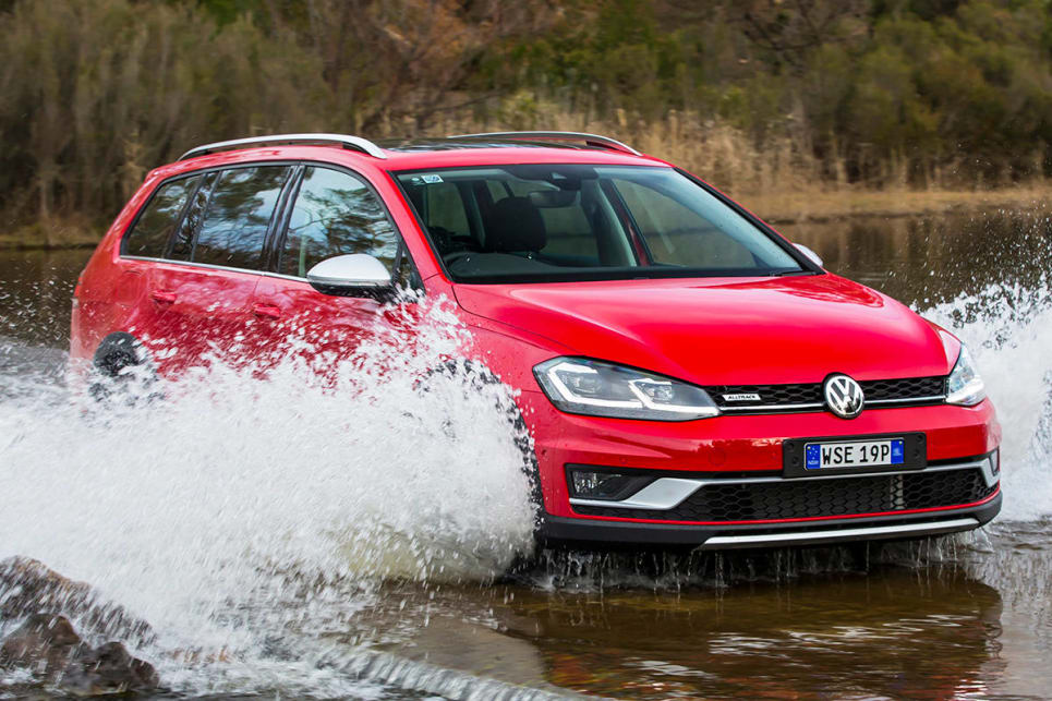 The Alltrack matches the Golf hatch and wagon for refinement and dynamic response. (Volkswagen Golf Alltrack shown)