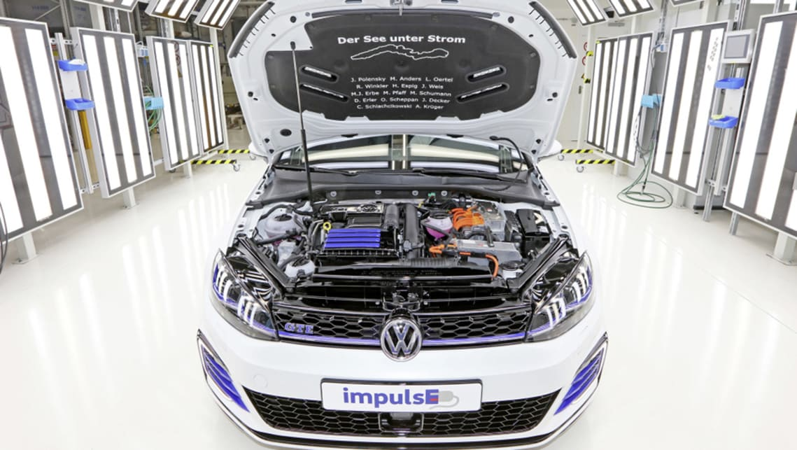 The Golf GTE Variant impulsE was made by 14 apprentices and features a prototype battery with a capacity increased from 8.8kWh to 16.8kWh.