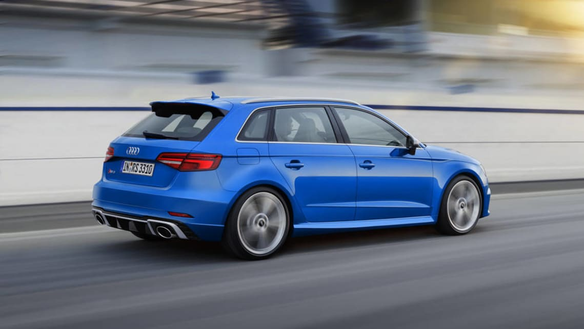 2018 audi rs3 sportback charges into geneva car news. Black Bedroom Furniture Sets. Home Design Ideas