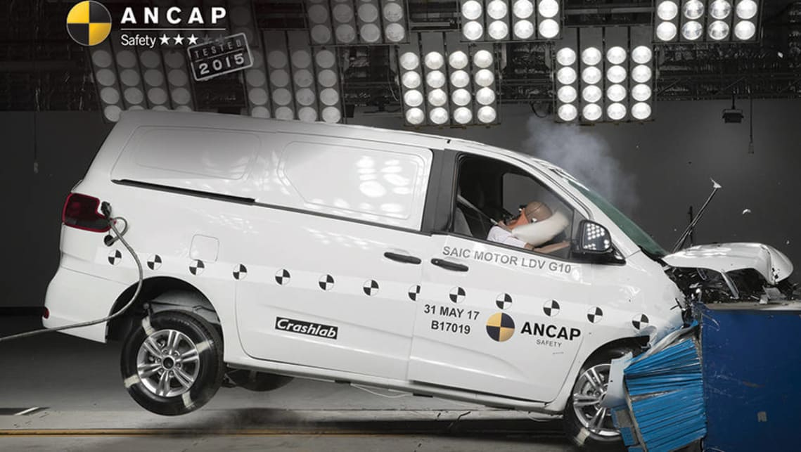 3dce19dadf LDV G10 falls short with three-star ANCAP rating - Car News