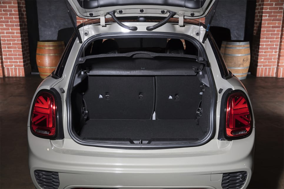 The five-door Hatch has 278 litres of cargo space. (Cooper S model shown)
