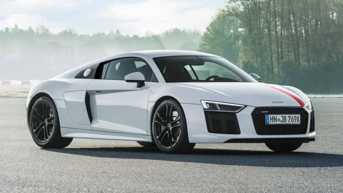 Audi r8 lmx sports car launched in india, priced at rs 2. 97 crore.