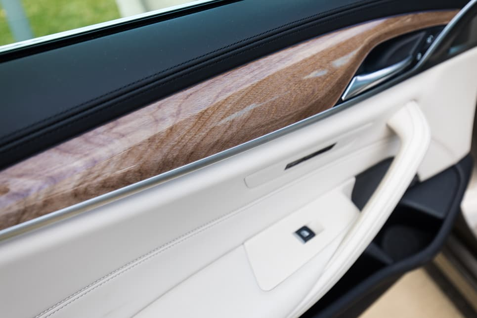 The light wood accents along the doors and the dash are bang on trend. (image credit: Dean McCartney)