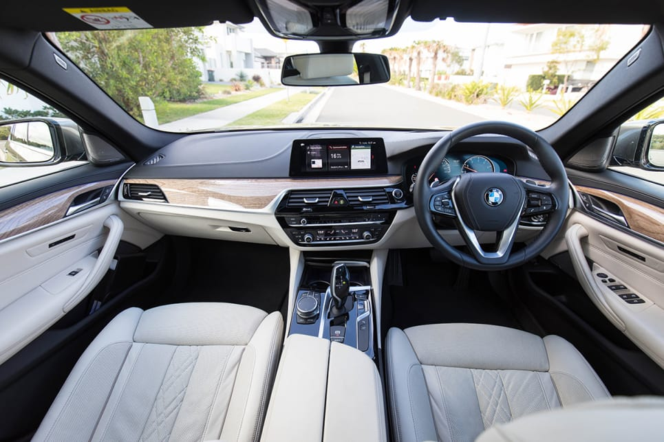 There's a leather steering wheel and the option of a panoramic sunroof which will set you back an extra $3100. (image credit: Dean McCartney)