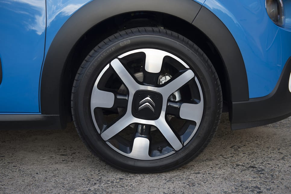 17-inch 'diamond-cut' alloy wheels come as standard.