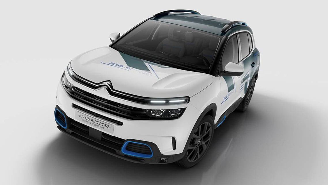 citroen c5 aircross 2019 hybrid concept revealed ahead of. Black Bedroom Furniture Sets. Home Design Ideas