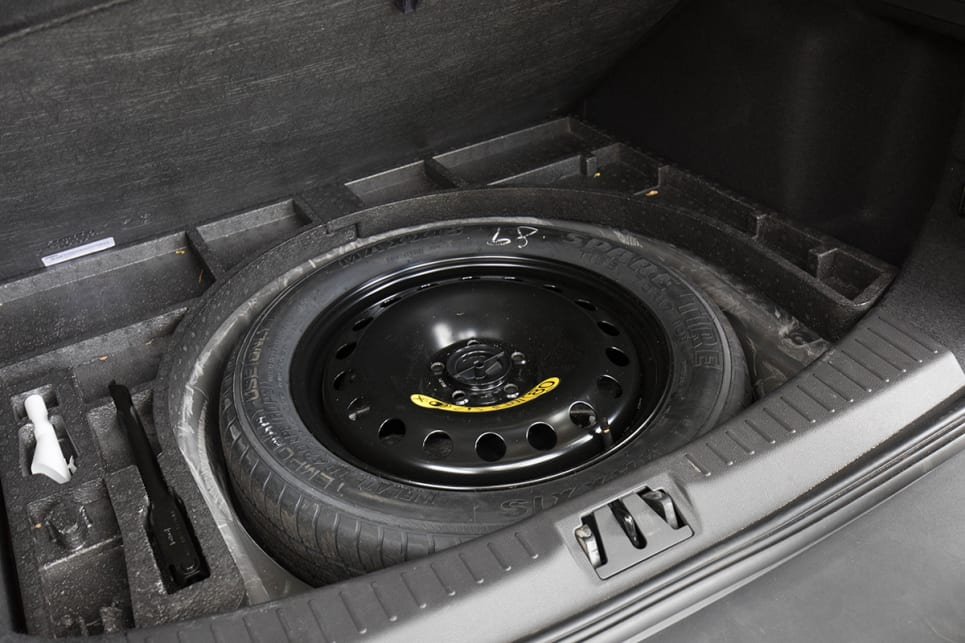 The Escape comes with a space saver spare tyre.