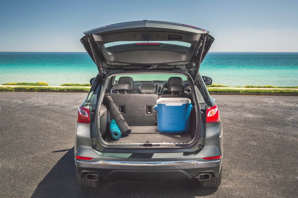 The Equinox has a class-leading boot capacity of 846 litres with the back seats in place. (Model shown: LTZ-V)