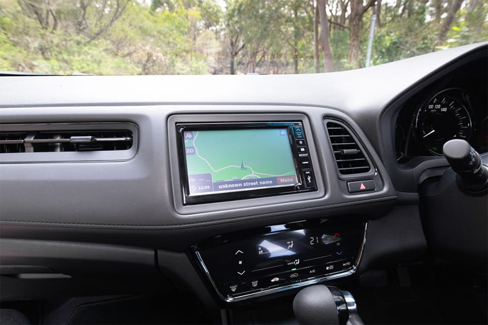 Honda's 7.0-inch infotainment system is pretty poor by today's standards. (image credit: Dean McCartney)
